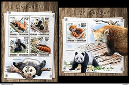 CENTRAL AFRICA 2016 - Pandas, M/S + S/S Official Issue