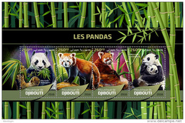DJIBOUTI 2016 - Pandas. Official Issue