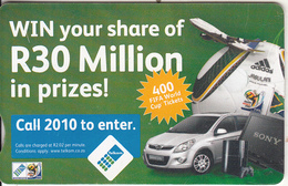 SOUTH AFRICA(chip) - Win Your Share..., Telkom Telecard R25, Chip GEM3.3, Exp.date 06/13, Used