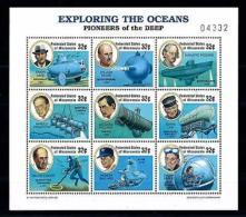 [56891] Micronesia 1997 Exploring Oceans Submarines MNH
