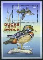 Gambia 2001 Wood Duck S/s, (Mint NH), Nature - Ducks - Birds