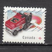 ##13, Canada TIMBRE DE FEUILLET, STAMP FROM SOUVENIR SHEET, Hockey, Flames De Calgary