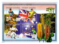 MADAGASCAR, OLYMPIC 2000. FOOTBALL HANDBALL JUDO CANOE. SHEET** - Verano 2000: Sydney