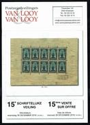 Maison VAN LOOY -  15 E Vente - Anvers - Décembre 2016. - Catalogues De Maisons De Vente