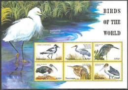 Tanzania 1999 Birds 6v M/s, Blacksmith Plover, (Mint NH), Nature - Birds
