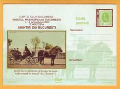 2000 Romania. Municipal Museum Of Bucharest. Playground. Wagon. Horse. - Postal Stationery