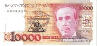 Brazil - Pick 218a - 10.000 (10000) Cruzados = 10 Cruzados Novos 1989 - Unc - Brésil