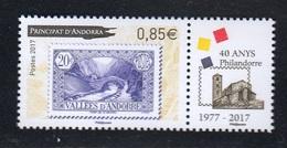 FRENCH ANDORRA 2017 Philandorre 1977 - 2017