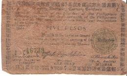 Philippines - Pick S674 - 5 Pesos 1944 - G+ - WWII - TreasuryEmergency Currency Certificate - Filippine