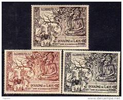 Laos N° 30 / 32 X  2500ème Anniversaire De La Naissance De Bouddha Les 3 Valeurs  Trace De Charnière Sinon TB - Laos