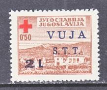 Trieste STT-VUJA RA 1   *  RED  CROSS - 7. Trieste