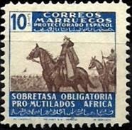 ESPAÑA COLONIAS MARRUECOS 1943 BENEFICENCIA EDIFIL 34 ** MNH - Maroc Espagnol