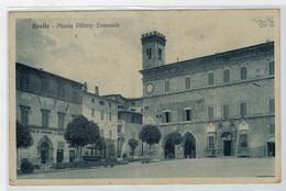 C. P.  PICCOLA     SPELLO  (PG)   PIAZZA  VITTORIO  EMANUELE   1931          2 SCAN  (VIAGGIATA) - Italia