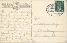 DR 1928, 8 Pf. Auf Karte M. Bahnpost Stpl. Goslar-Altenau Z.985. #349