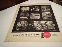 ANCIENNE PUBLICITE SOIF D AUTRE CHOSE SOIF DE COCA COLA CHASSE 1959 - Publicités