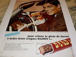 ANCIENNE PUBLICITE CHOCOLAT  CROQUEZ DANDY 1966 - Posters