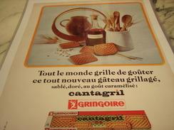 ANCIENNE PUBLICITE BISCUIT GRINGOIRE LE CANTAGRIL 1966 - Posters