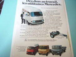 ANCIENNE PUBLICITE UTILITAIRE MERCEDES-BENZ 1966 - Camions