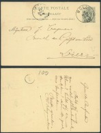 AO464 Entier De Moll à Lierre 1893 - Stamped Stationery