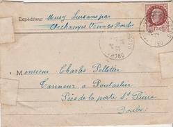 Courrier 1944 / Musy / Luisans Par Orchamps Vennes / Bons Pour Chaussures / 25 Doubs - France