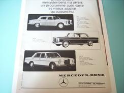 ANCIENNE PUBLICITE MERCEDES -BENZ 1965 200-230 S-250 S - Voitures