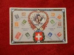 Briefmarkensprache Ansichtskarte Mit Schweizer Briefmarken 1925 (322) - Switzerland