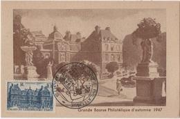 CM 36 - FRANCE Carte Maximum Palais Du Luxembourg Paris 1947 - 1940-49