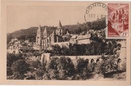 CM 39 - FRANCE Carte Maximum Abbaye De Conques - Cartoline Maximum