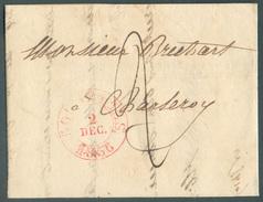 Précurseur  De GOSSELIES  Le 2 Décembre 1836  Vers Charleroi - Superbe  -  11871 - 1830-1849 (Belgique Indépendante)