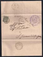 COLLETTORIA RURALE - DA TOMBA DI PESARO A S.GIOVANNI MARIGNANO - 31..1886.