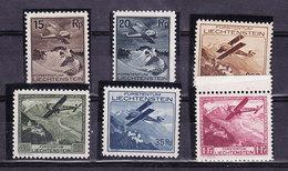 Liechtenstein 1930 Airmail 6v ** Mnh (35831) - Luchtpostzegels