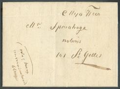 LAC Envoyée De TEMSCHE (TAMISE) Le 3 Février 1838 Par Mesager Vers T-Gillis Waes - 11873 - 1830-1849 (Belgique Indépendante)
