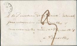 LAC De Saint-GHISLAIN (type 18) Le 23-VII-1840 Vers Bruxelles, Port 3 Décimes - 11874 - 1830-1849 (Belgique Indépendante)