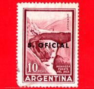 ARGENTINA - Usato -  1960 - Ponte - Mendoza - Puente Del Inca - 10 C - S. Oficial - Servizio