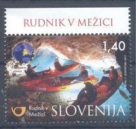 Slovenia MNH ** 2017; TURISMUS,UNDER MOUNT PECA KAYAK Mine Mežica - Zink Lead Minarals Mineraux - Mineralien