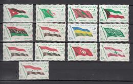 Egypt 1964,13V,set,flags,banners,vlaggen,drapeaux,flaggen,MNH/Postfris(A3306) - Postzegels