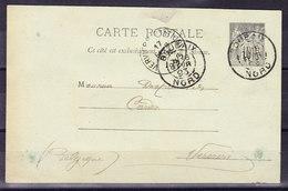 ENTIER POSTAL FRANCE  1893  (A7)
