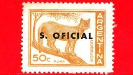 ARGENTINA - Usato - 1960 - Puma - Felis Concolor - 50 C - S. Oficial - Servizio