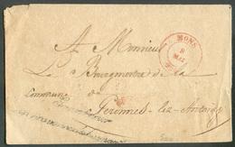 Bande Expédiée De MONS + Griffe De Franchise Le Gouverneur De La Province De Hainaut Vers Peronnes-lez-ANTOING - 11878 - 1830-1849 (Belgique Indépendante)