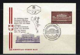 ÖSTERREICH - FDC Mi-Nr. 1367 - 200 Jahre Wiener Börse Stempel Wien (23) - FDC