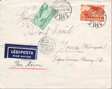 HUNGARY - AIR MAIL LETTER 1936 BUDAPEST -> JENA