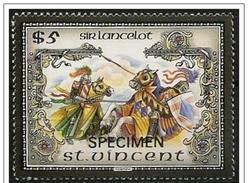 St. Vincent/Saint-Vincent: Specimen, Re Artù, Lancillotto, King Arthur, Lancelot, Roi Arthur, Lancelot - Fiabe, Racconti Popolari & Leggende