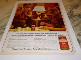 ANCIENNE PUBLICITE NESCAFE 1965 - Posters