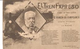 POSTAL    EL TREN EXPRESO SERIE 1 Nº 1   -POEMA EN TRES CANTOS POR D. RAMON DE CAMPOAMOR - Postales