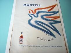 ANCIENNE PUBLICITE COGNAC MARTEL 1968 - Alcools