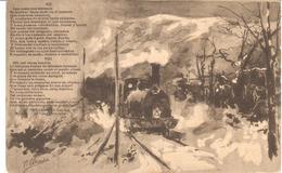 POSTAL    EL TREN EXPRESO SERIE II Nº14   -POEMA EN TRES CANTOS POR D. RAMON DE CAMPOAMOR (VII) - Postales