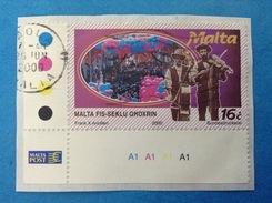 2000 MALTA FRANCOBOLLO USATO STAMP USED - FESTE POPOLARI FOLCLORE 16 C - Malta