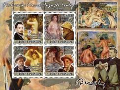 S. TOME & PRINCIPE 2008 - Pierre-Auguste Renoir - YT 2772-5 - Impressionisme
