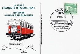 GS Kühlwaggons Aus Dessau Triebwagen - Trains