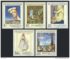 Czechoslovakia 1971 Paintings Art 14c Master Of Vyssi Brod Albrecht Durer Josef Stamps MNH SC 1779-1783 Michel 2032-2036